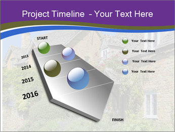 Large house on a background sky. PowerPoint Template - Slide 26