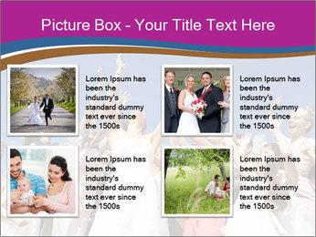 A bride catch the bridal bouquet PowerPoint Template - Slide 14