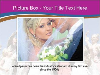 A bride catch the bridal bouquet PowerPoint Template - Slide 16