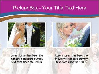 A bride catch the bridal bouquet PowerPoint Template - Slide 18