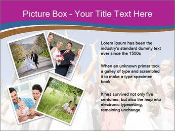 A bride catch the bridal bouquet PowerPoint Template - Slide 23