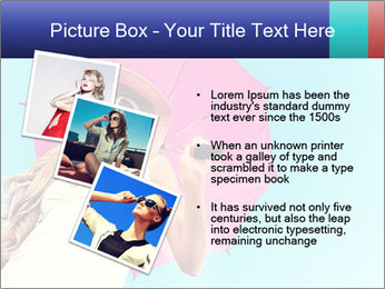 Woman And Pink Umbrella PowerPoint Templates - Slide 17