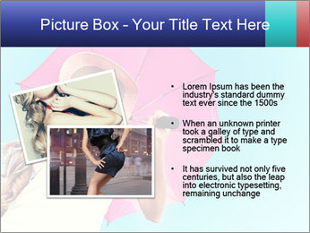 Woman And Pink Umbrella PowerPoint Templates - Slide 20