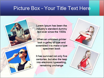 Woman And Pink Umbrella PowerPoint Templates - Slide 24