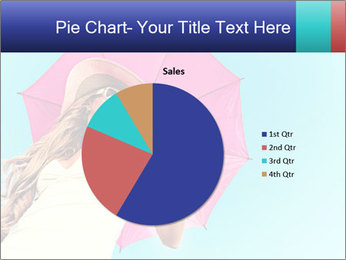 Woman And Pink Umbrella PowerPoint Templates - Slide 36