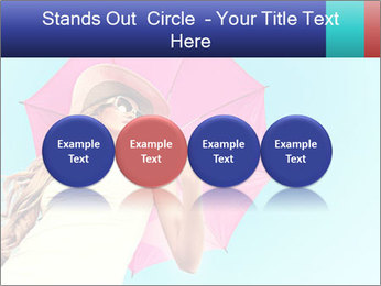 Woman And Pink Umbrella PowerPoint Templates - Slide 76