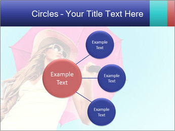 Woman And Pink Umbrella PowerPoint Templates - Slide 79