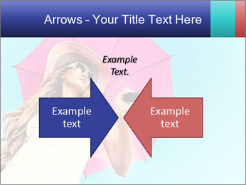 Woman And Pink Umbrella PowerPoint Templates - Slide 90