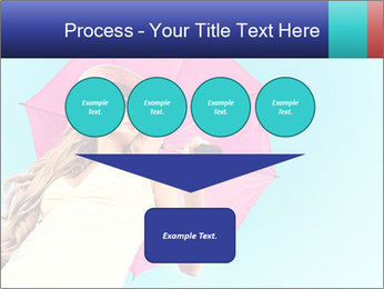 Woman And Pink Umbrella PowerPoint Templates - Slide 93