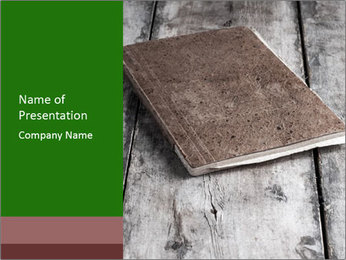 Old-Style Notebook PowerPoint Template - Slide 1