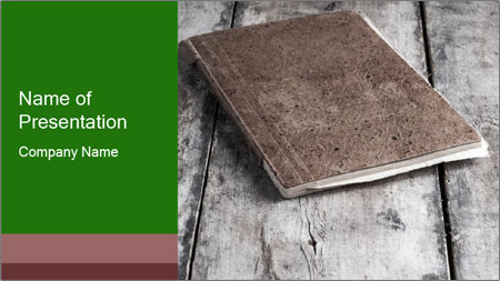 Old-Style Notebook PowerPoint Template