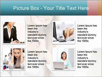 Businesswoman With Paperwork PowerPoint Template - Slide 14