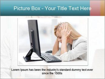 Businesswoman With Paperwork PowerPoint Template - Slide 15