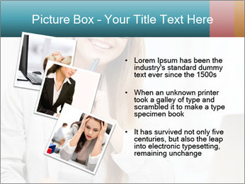 Businesswoman With Paperwork PowerPoint Template - Slide 17