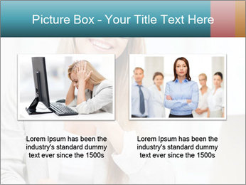 Businesswoman With Paperwork PowerPoint Template - Slide 18