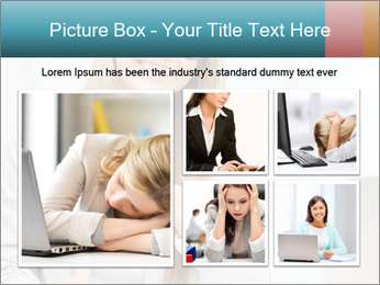 Businesswoman With Paperwork PowerPoint Template - Slide 19