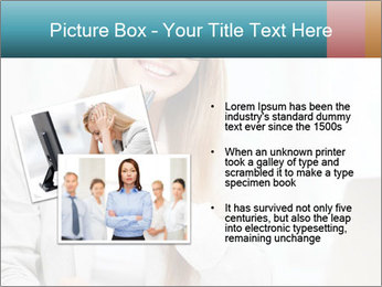 Businesswoman With Paperwork PowerPoint Template - Slide 20