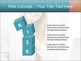 Businesswoman With Paperwork PowerPoint Template - Slide 81