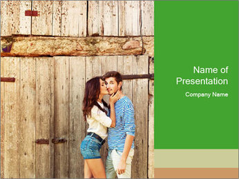 Passionate Love Couple PowerPoint Template - Slide 1