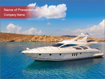VIP Yacht PowerPoint Template - Slide 1
