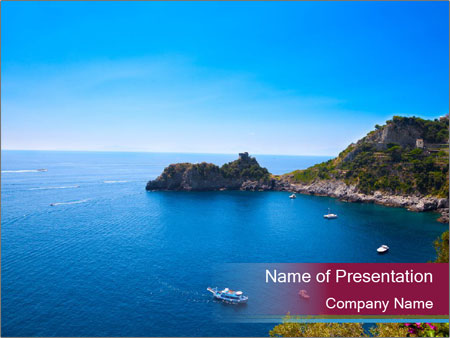 Lovely Bay PowerPoint Template
