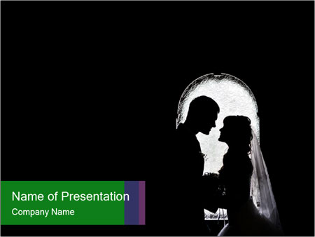 Full Moon Kiss PowerPoint Template