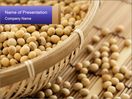 Raw Soyabeans PowerPoint Templates