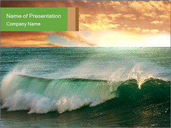 Sea During Dawn PowerPoint Template - Slide 1
