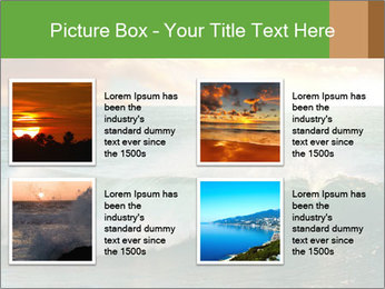 Sea During Dawn PowerPoint Template - Slide 14