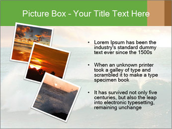 Sea During Dawn PowerPoint Template - Slide 17