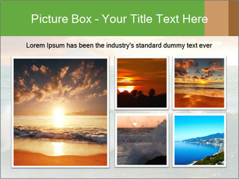 Sea During Dawn PowerPoint Template - Slide 19