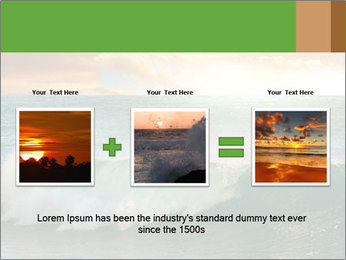 Sea During Dawn PowerPoint Template - Slide 22