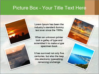 Sea During Dawn PowerPoint Template - Slide 24