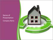 Green House Model PowerPoint Template