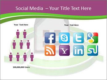 Green House Model PowerPoint Templates - Slide 5