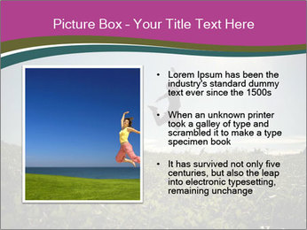 Man Jumping In Field PowerPoint Templates - Slide 13
