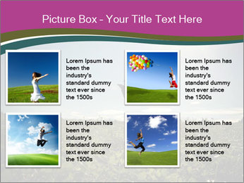 Man Jumping In Field PowerPoint Templates - Slide 14