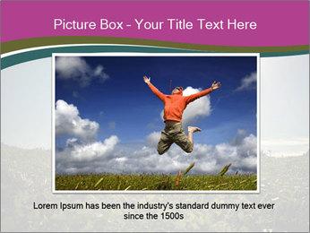 Man Jumping In Field PowerPoint Templates - Slide 15
