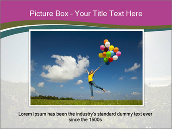 Man Jumping In Field PowerPoint Templates - Slide 16
