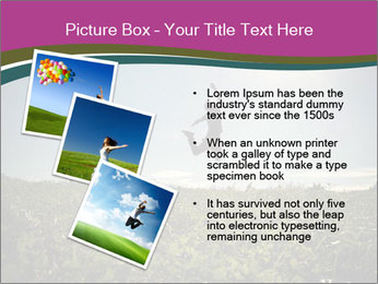 Man Jumping In Field PowerPoint Templates - Slide 17
