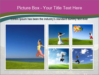 Man Jumping In Field PowerPoint Templates - Slide 19