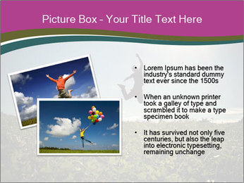 Man Jumping In Field PowerPoint Templates - Slide 20