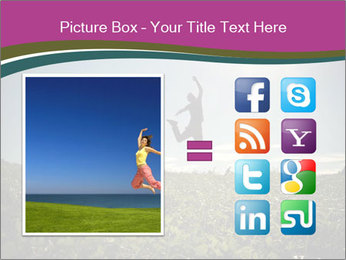 Man Jumping In Field PowerPoint Templates - Slide 21