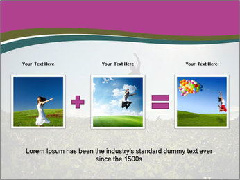 Man Jumping In Field PowerPoint Templates - Slide 22