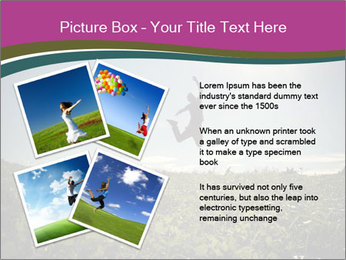 Man Jumping In Field PowerPoint Templates - Slide 23