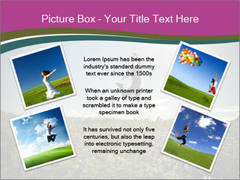 Man Jumping In Field PowerPoint Templates - Slide 24