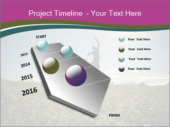 Man Jumping In Field PowerPoint Templates - Slide 26