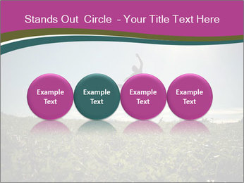 Man Jumping In Field PowerPoint Templates - Slide 76