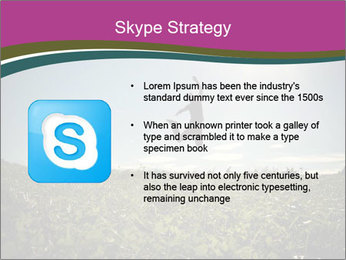 Man Jumping In Field PowerPoint Templates - Slide 8