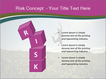 Man Jumping In Field PowerPoint Templates - Slide 81